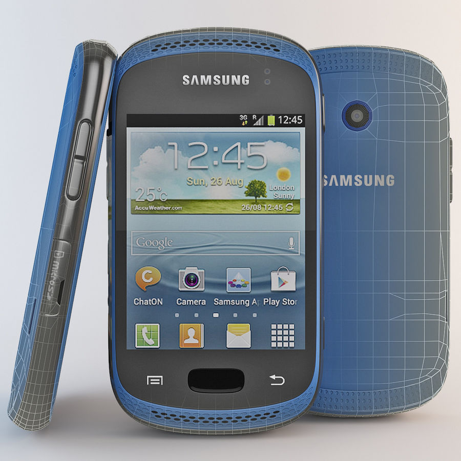 Samsung Galaxy Music Blue royalty-free 3d model - Preview no. 3