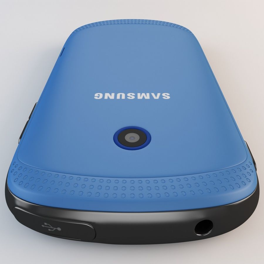 Samsung Galaxy Music Blue royalty-free 3d model - Preview no. 14