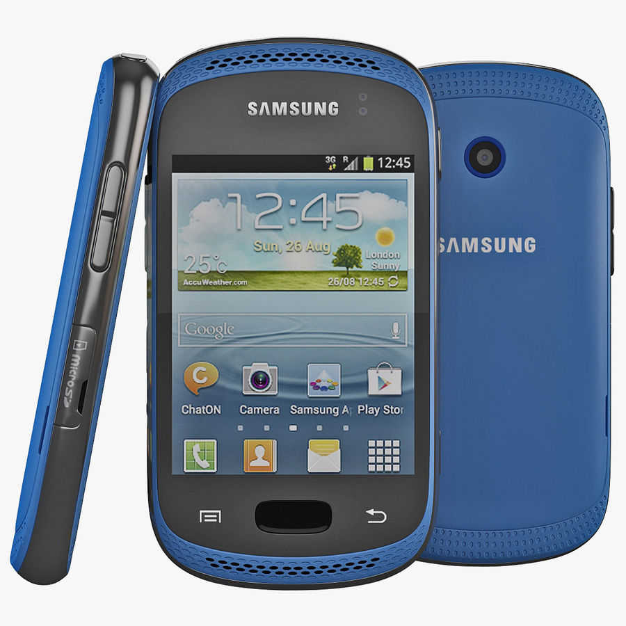 Samsung Galaxy Music Blue royalty-free 3d model - Preview no. 1