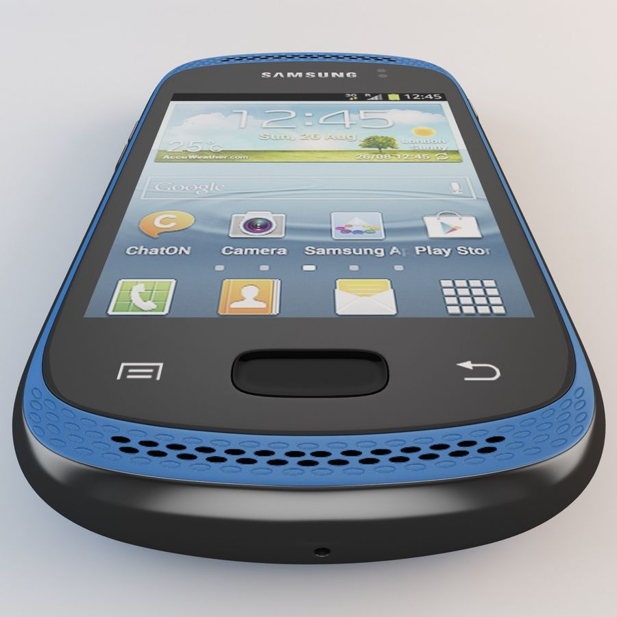 Samsung Galaxy Music Blue royalty-free 3d model - Preview no. 12