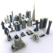 科幻未来城市 3d model