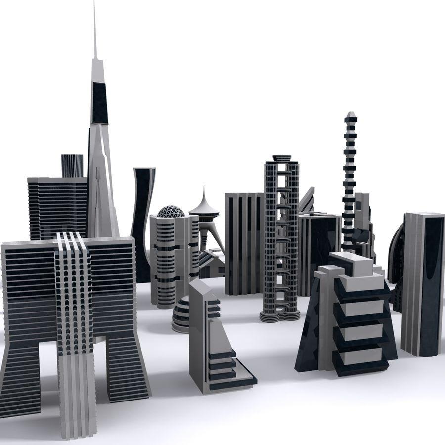 Sci Fi Futuristic City royalty-free 3d model - Preview no. 4