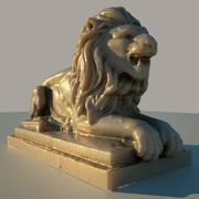 Estátua do leão 3d model