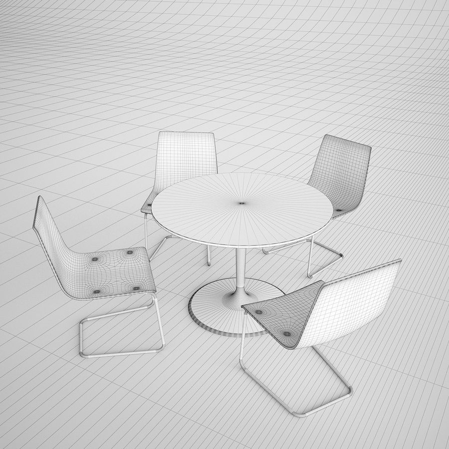 Ikea Round Table And Chairs: Ikea Docksta And Tobias Chair And Table 3D Model $39