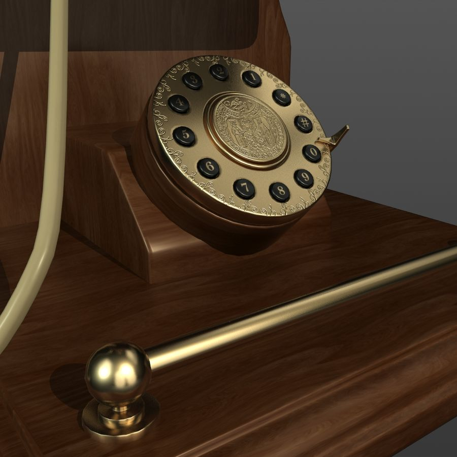 Old Phone royalty-free 3d model - Preview no. 5