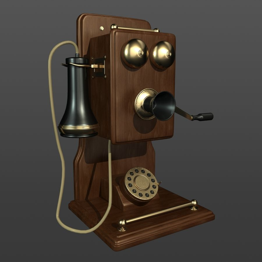 Old Phone royalty-free 3d model - Preview no. 2