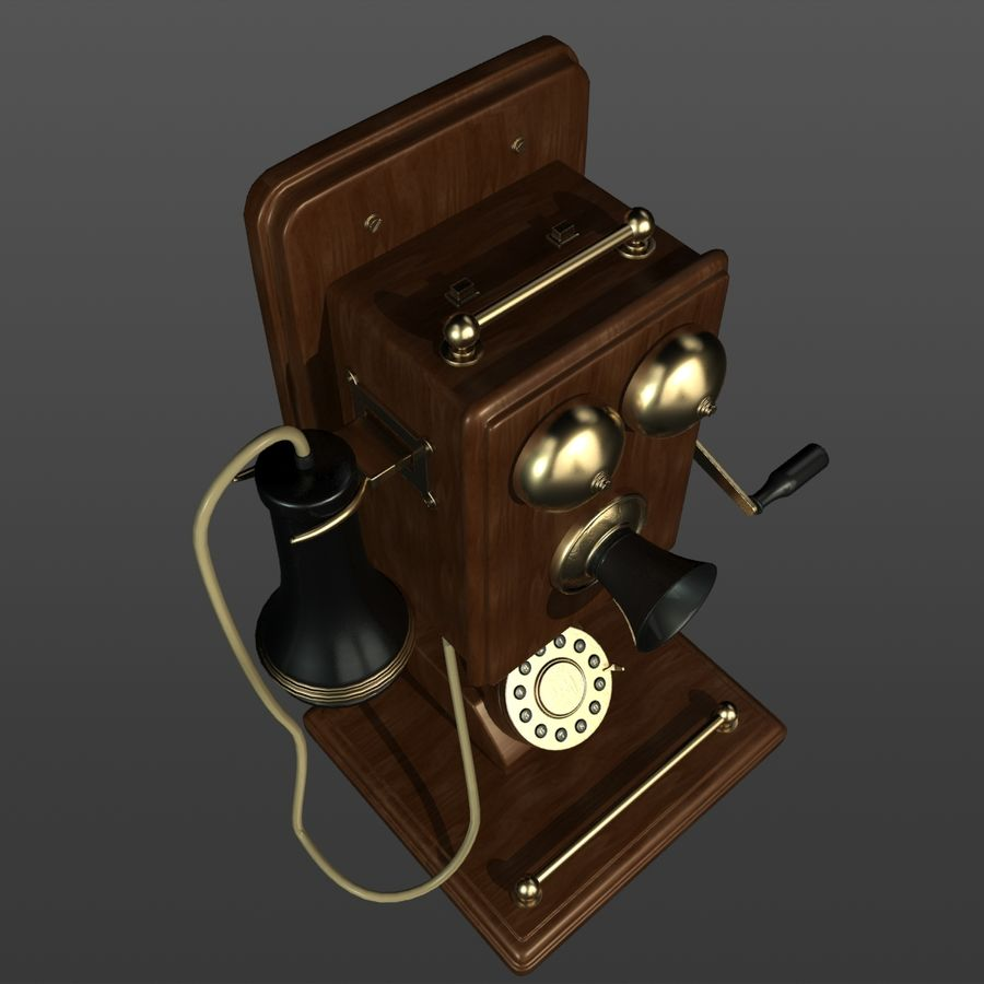 Old Phone royalty-free 3d model - Preview no. 6