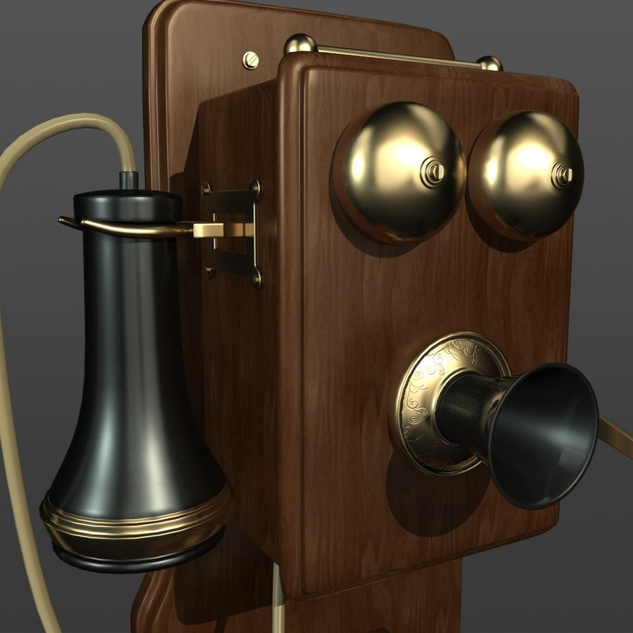 Old Phone royalty-free 3d model - Preview no. 4