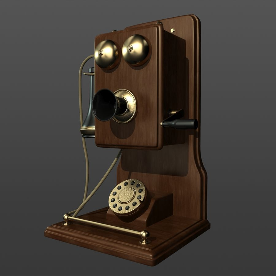 Old Phone royalty-free 3d model - Preview no. 3
