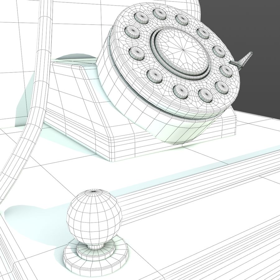 Old Phone royalty-free 3d model - Preview no. 8