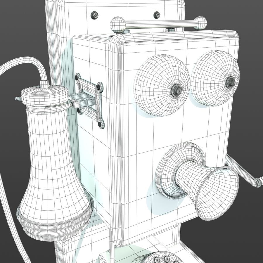 Old Phone royalty-free 3d model - Preview no. 9