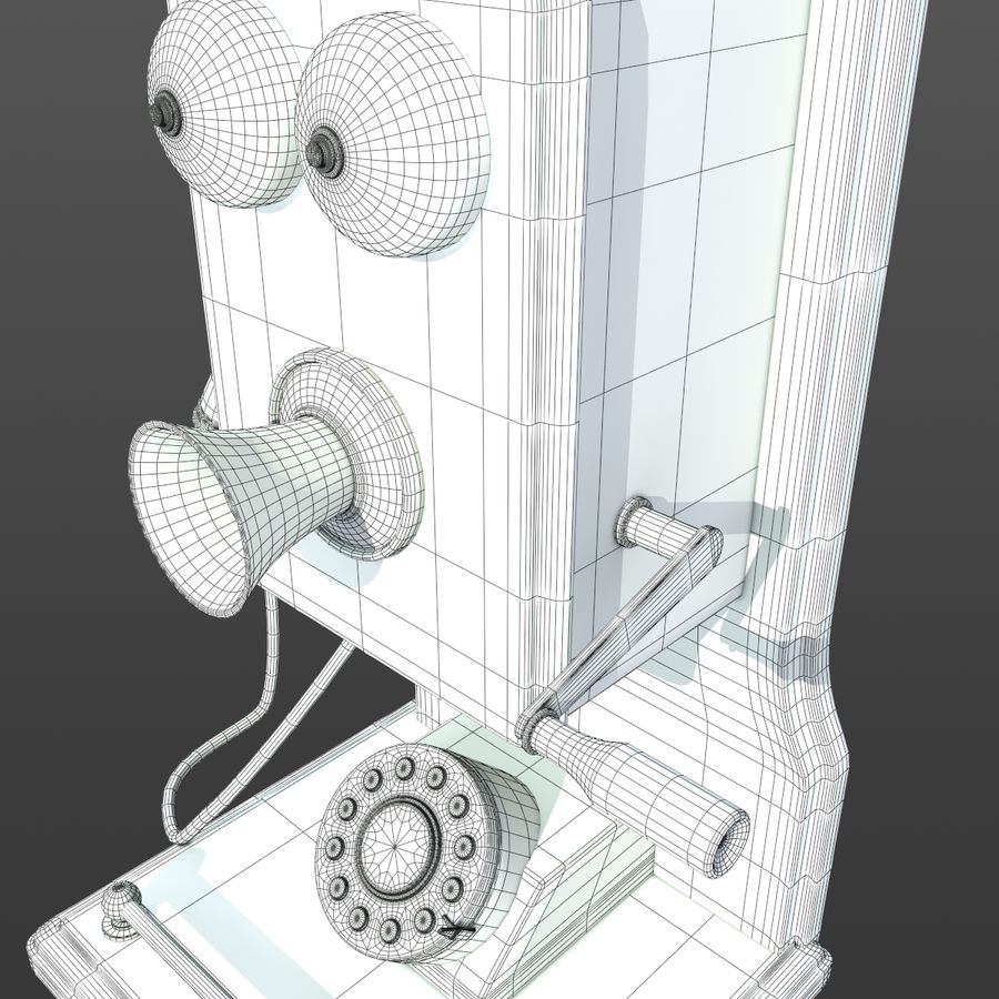Old Phone royalty-free 3d model - Preview no. 10