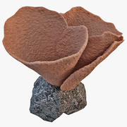 Gelato cono corallo 3d model