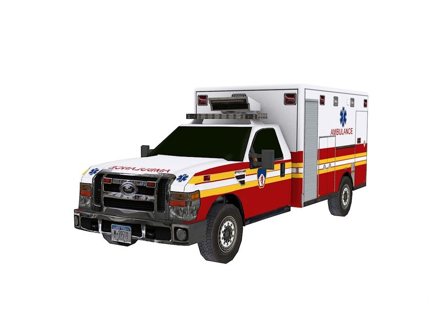 Ambulancia royalty-free modelo 3d - Preview no. 1