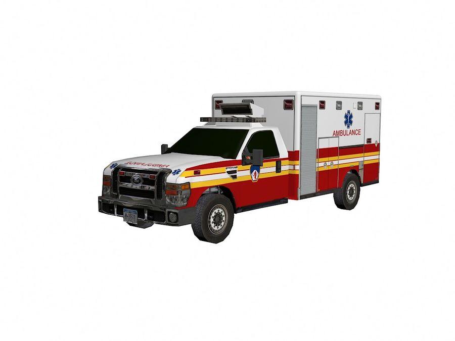 Ambulancia royalty-free modelo 3d - Preview no. 2