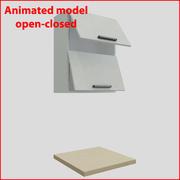 60厘米以上的门的厨房家具orizontal 2 3d model