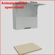 80厘米以上的门的厨房家具orizontal 2 3d model