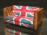 sofa vintage 3d model