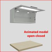 80厘米玻璃门的厨房家具orizontal 1 3d model