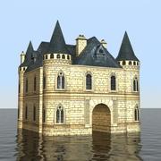 Französische mittelalterliche Burg 3d model