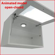 向上60厘米玻璃门厨房家具1 3d model