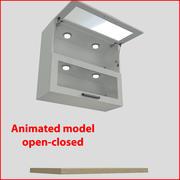 高达90厘米玻璃门的厨房家具orizontal 2 3d model