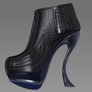 zapatos rizados modelo 3d