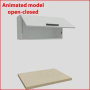 80厘米以上的门的厨房家具orizontal 1 3d model