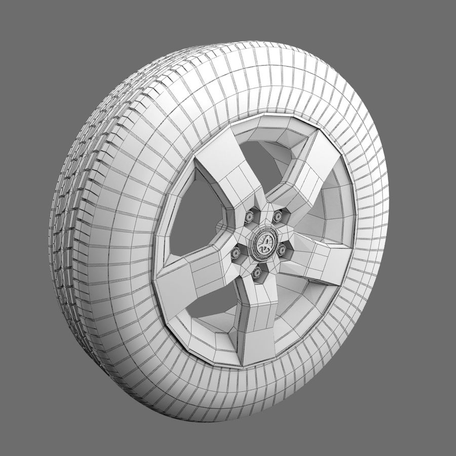 Tire royalty-free 3d model - Preview no. 3