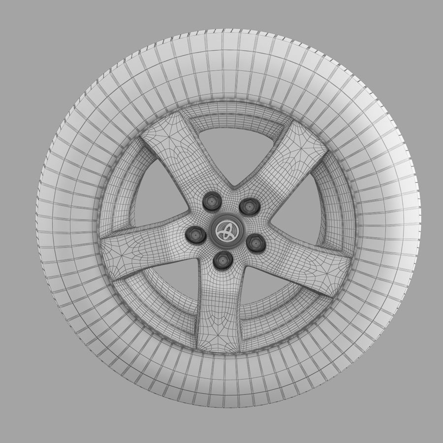 Tire royalty-free 3d model - Preview no. 4