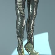 heiße Stiefel 3d model