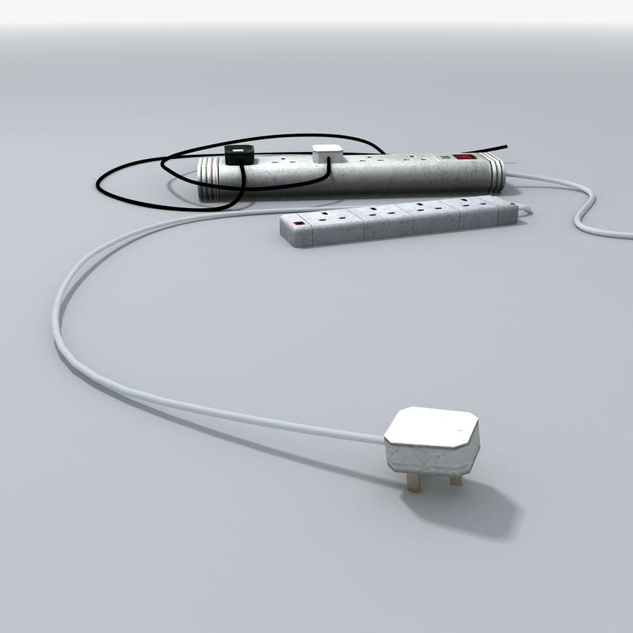 Kable zasilające z przedłużaczem royalty-free 3d model - Preview no. 5