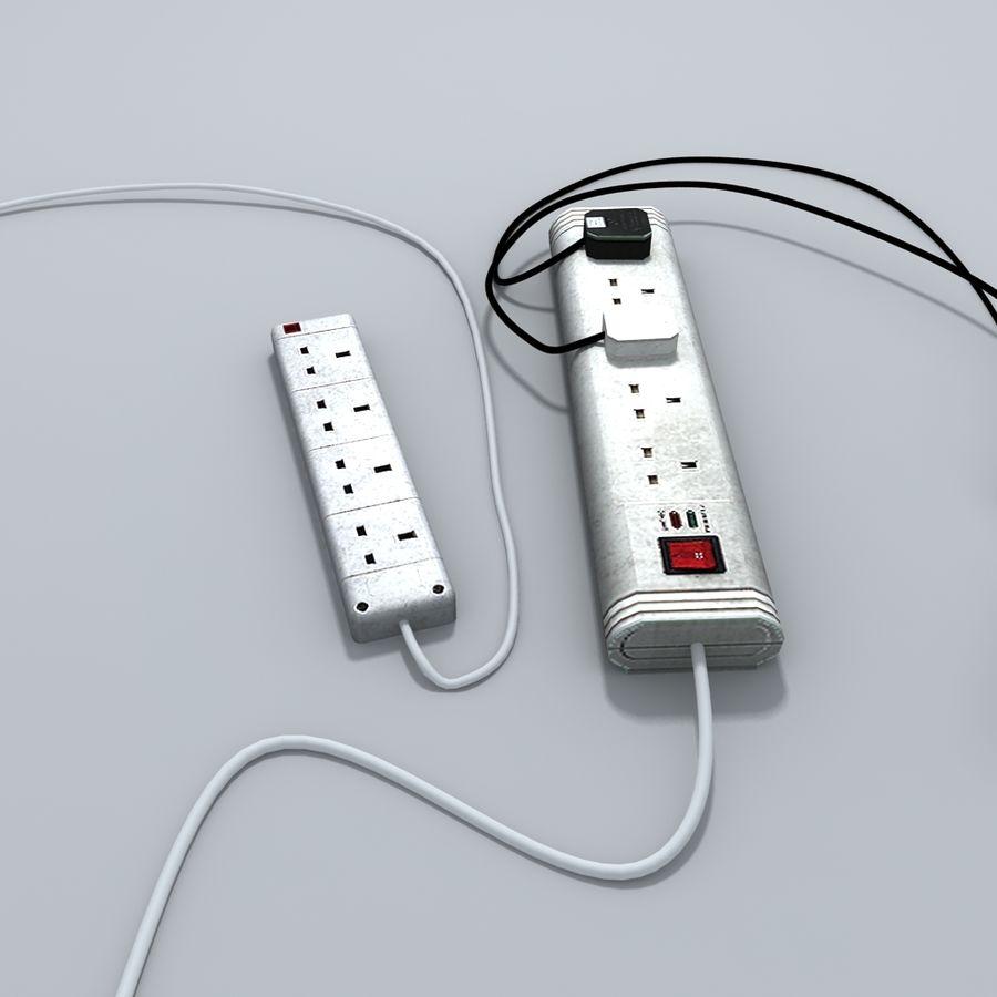 Kable zasilające z przedłużaczem royalty-free 3d model - Preview no. 4