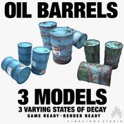 Oil Barrels Pack 3d model