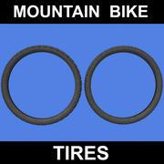 Mountain Bike Däck 3d model
