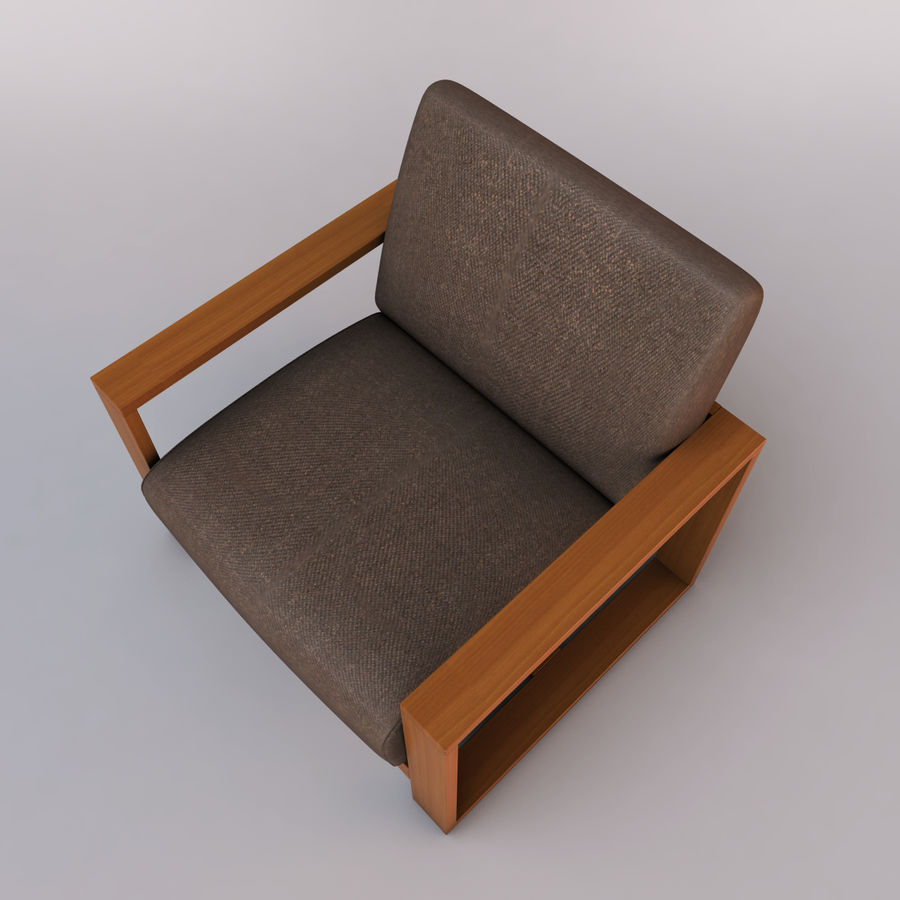 fauteuil chaise royalty-free 3d model - Preview no. 6