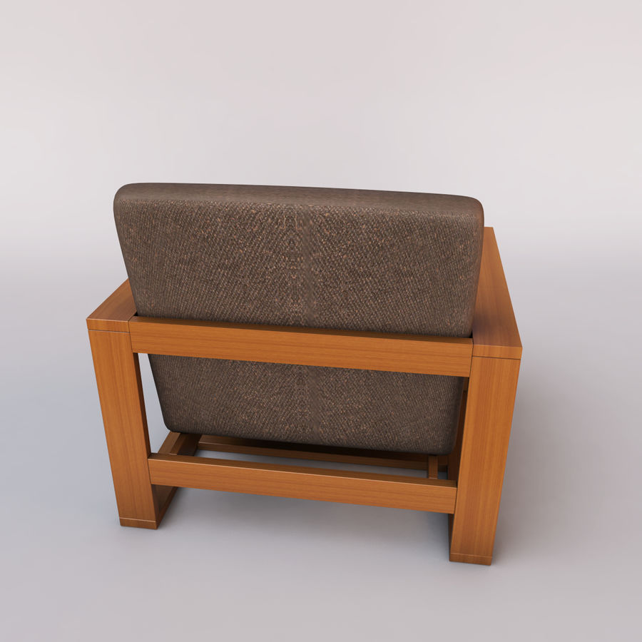 fauteuil chaise royalty-free 3d model - Preview no. 5