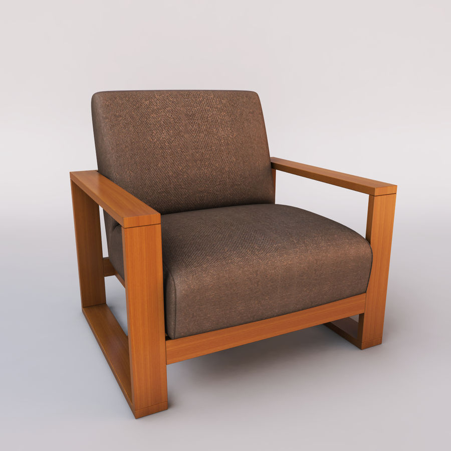 fauteuil chaise royalty-free 3d model - Preview no. 2