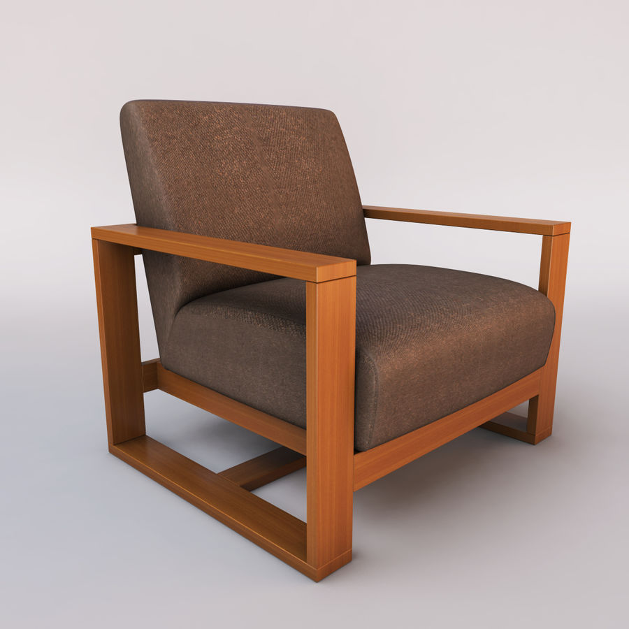 fauteuil chaise royalty-free 3d model - Preview no. 1