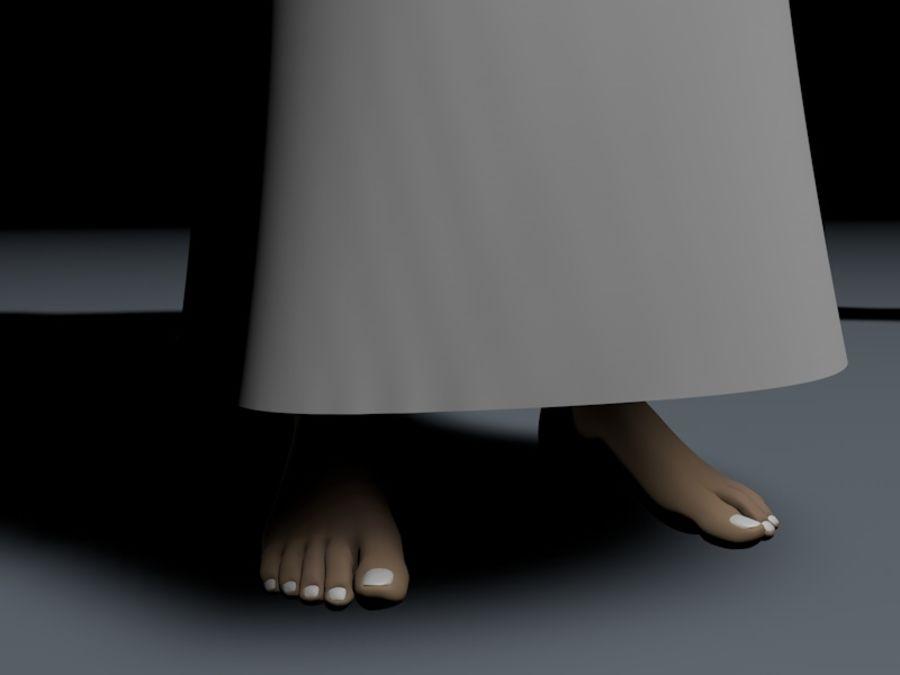 menino árabe de alta poli (Omã) royalty-free 3d model - Preview no. 3