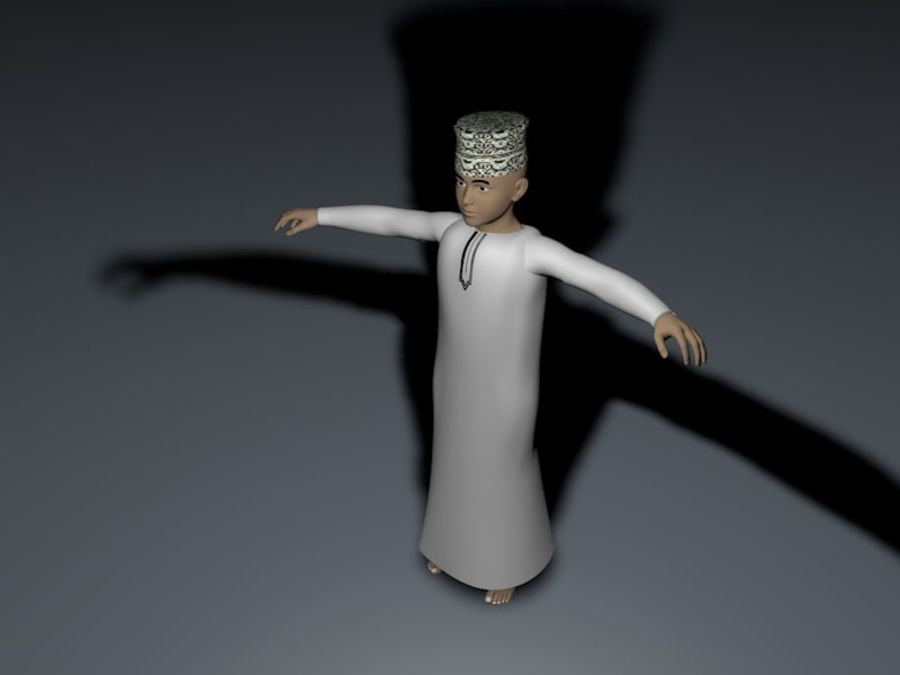 Hoher arabischer Polyjunge (Oman) royalty-free 3d model - Preview no. 8