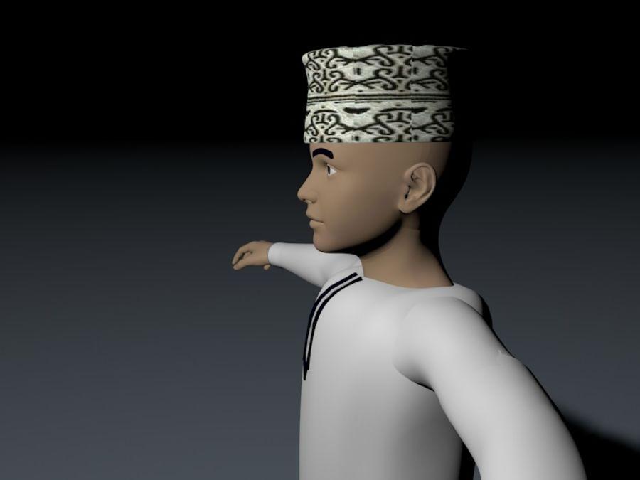menino árabe de alta poli (Omã) royalty-free 3d model - Preview no. 4
