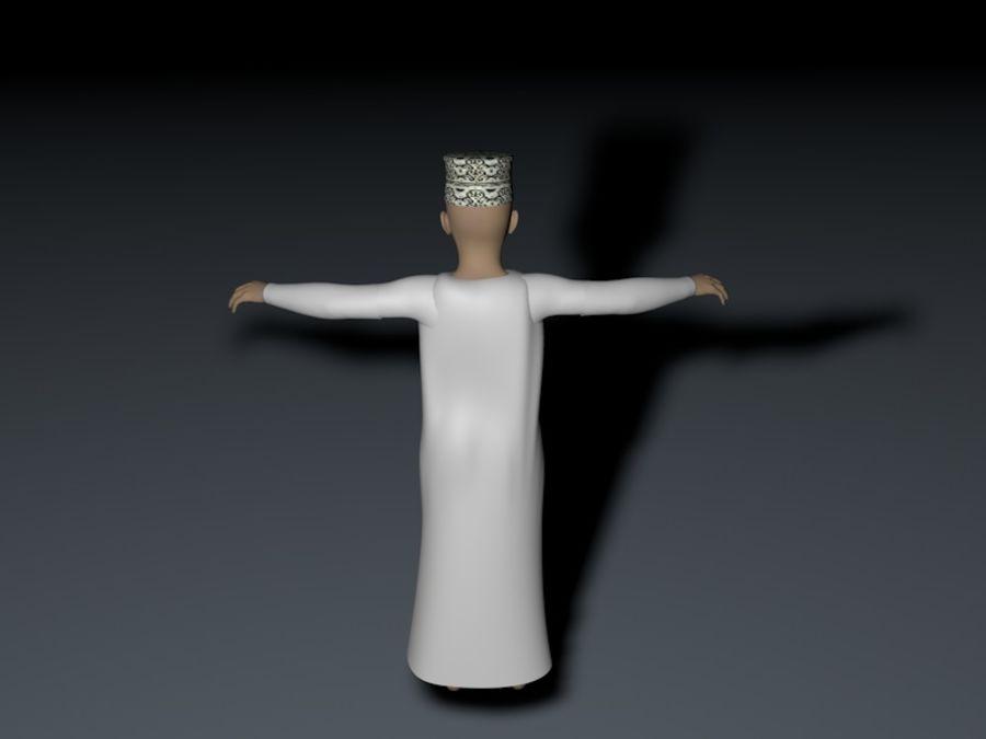 menino árabe de alta poli (Omã) royalty-free 3d model - Preview no. 6