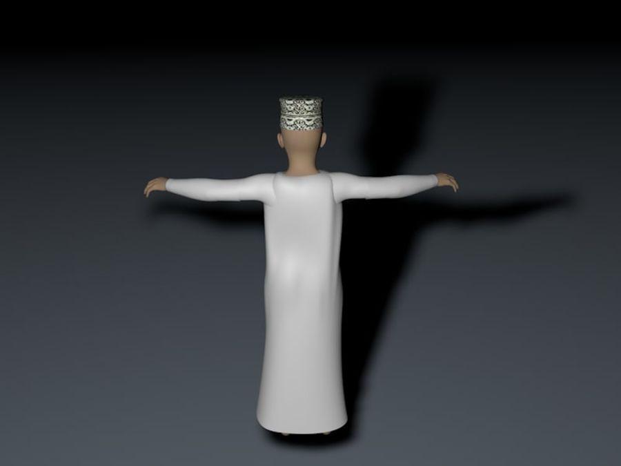 yüksek poli Arap çocuk (Umman) royalty-free 3d model - Preview no. 6