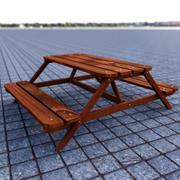 野餐凳 3d model