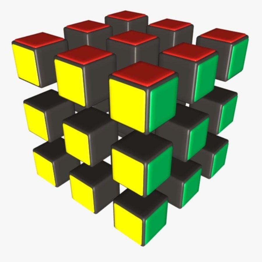 Rubik cube royalty-free 3d model - Preview no. 3
