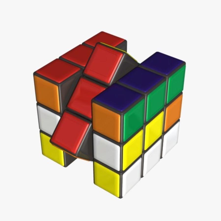 Rubik cube royalty-free 3d model - Preview no. 7