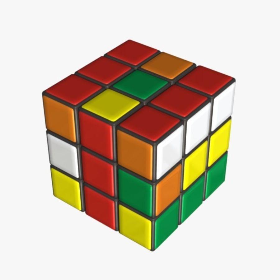 Rubik cube royalty-free 3d model - Preview no. 8