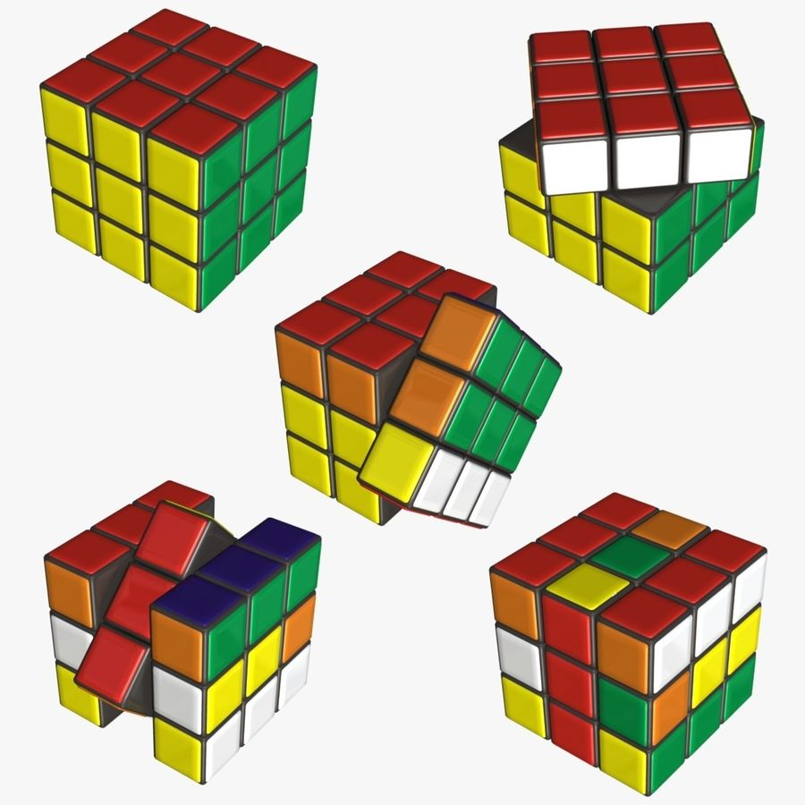 Rubik cube royalty-free 3d model - Preview no. 1