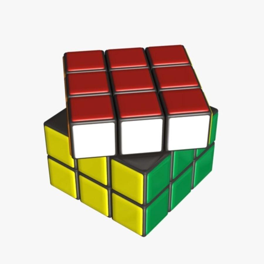 Rubik cube royalty-free 3d model - Preview no. 4